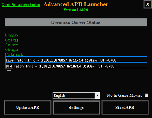 Advanced APB Launcher